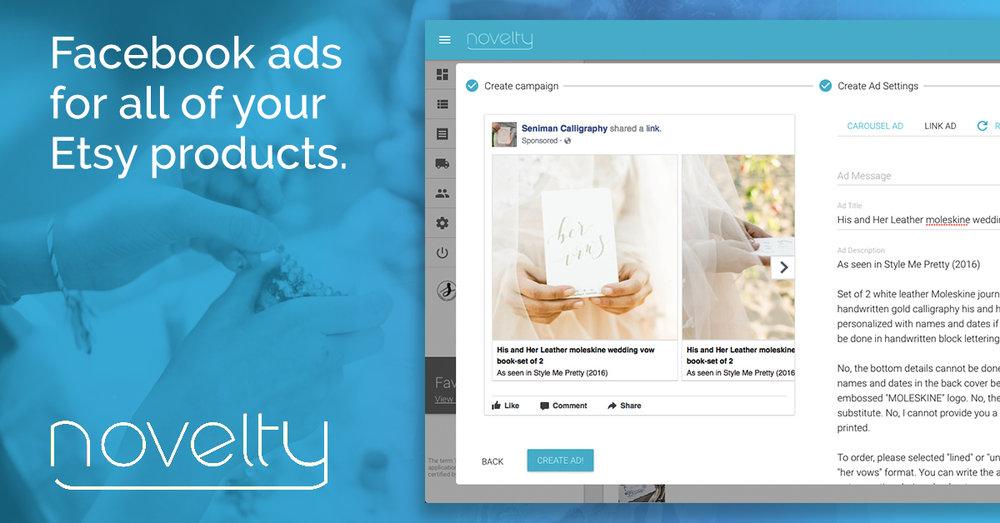 facebook ads for all of your etsy products