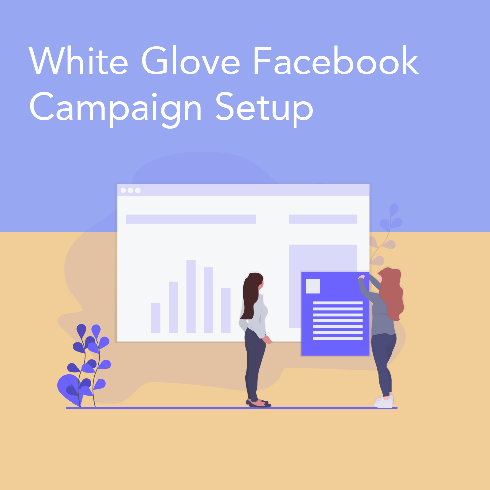 White Glove Facebook Campaign Setup - This service is by far the most bang for your buck! For $200/mo we setup your campaign, create audience targeting pulled from Facebook's API and work with you on your advertising budget and schedule.