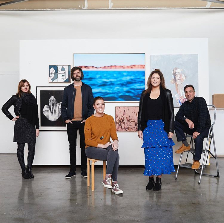 No Peace In Quiet — Artists L-R, Heidi Yardley, Stephen Baker, Hannah Fox, Claire Kirkup, James Geer