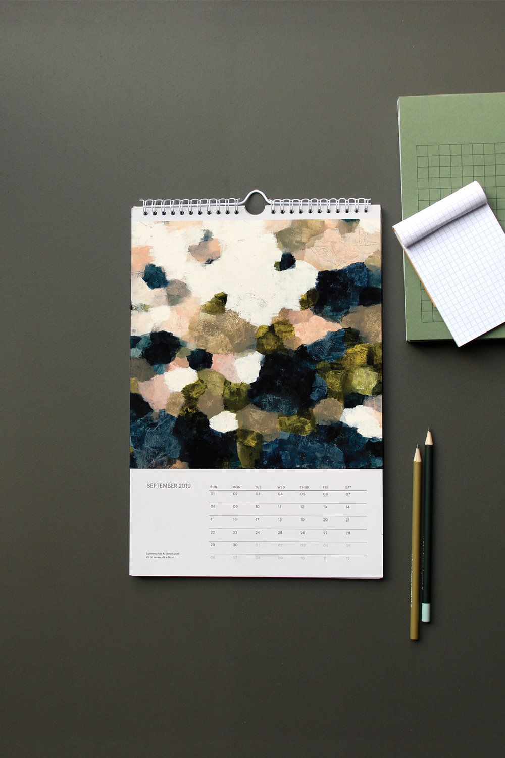 Seasonal Shift       2019 Wall Calendar — Artwork by Hannah Fox Design: Madeline Critchley