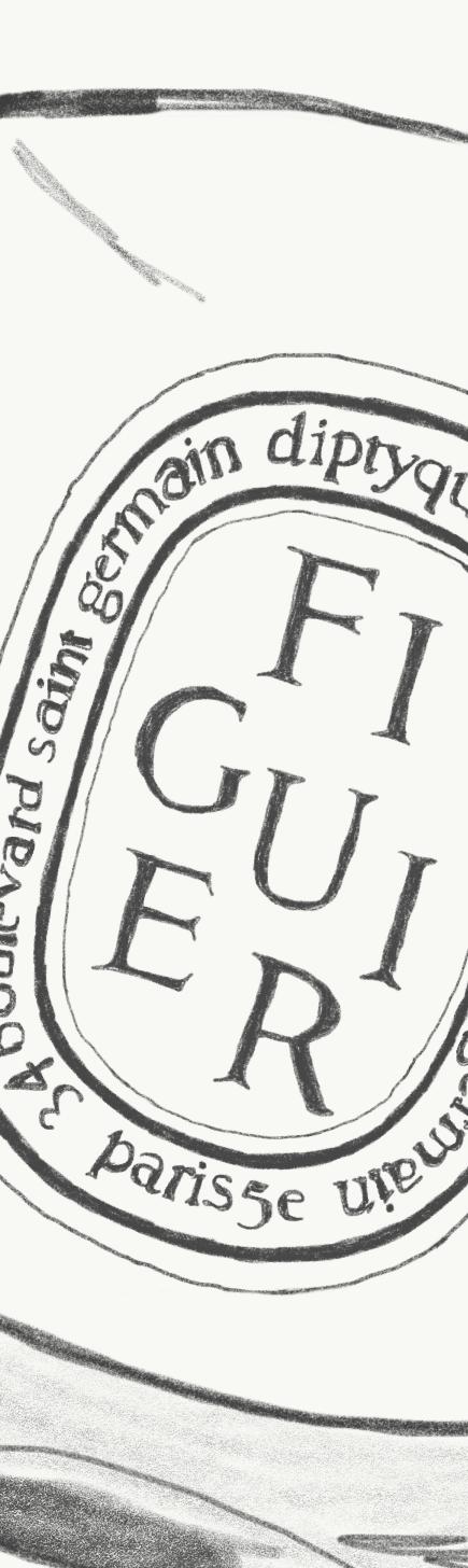 Diptyque's  Figuier   candle label.