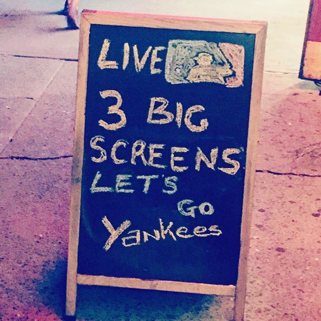 Let's go yankees!!! Get on over and have a drink! #murrayhillbars #gramercybars