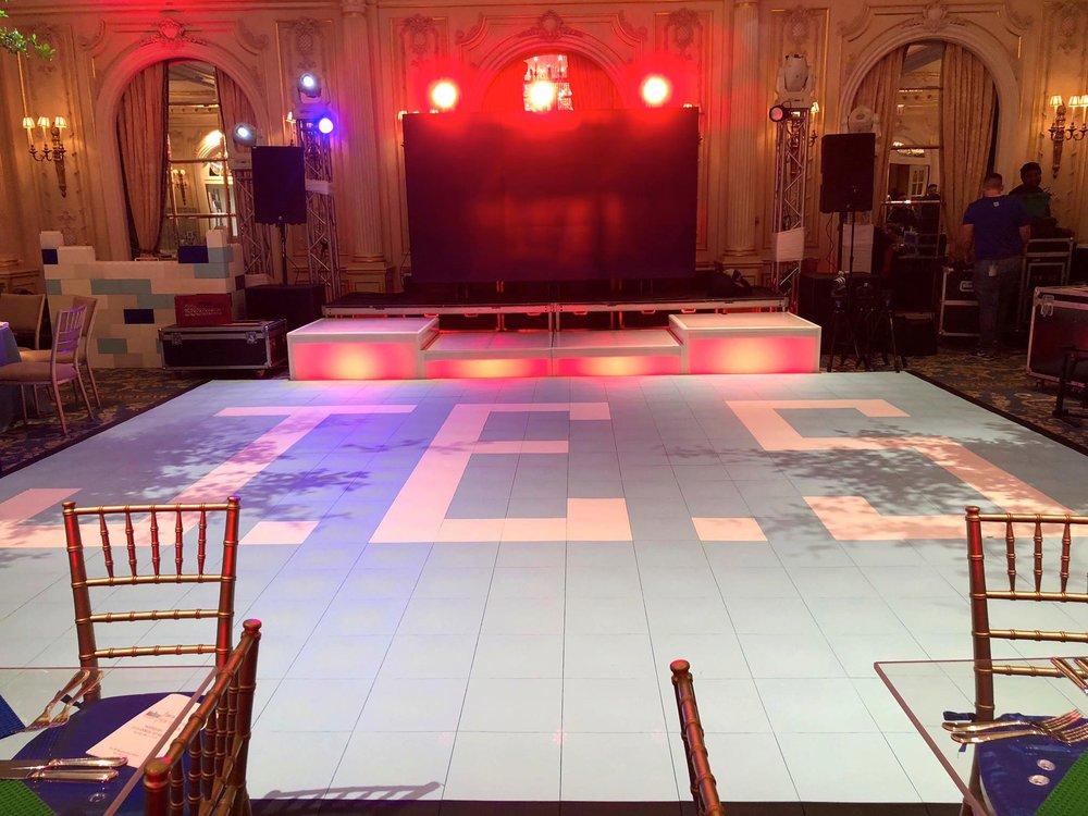 Patterned dance floor