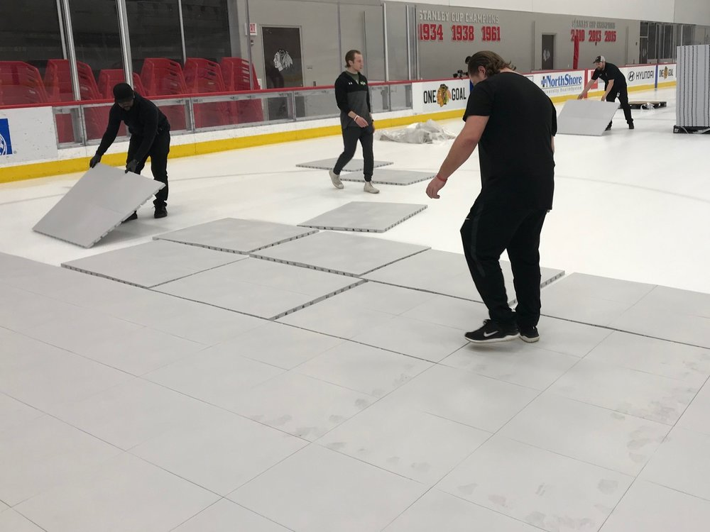 Ice rink conversion