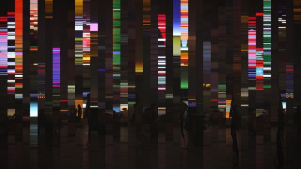LOBBY DANIEL CROOKS (B. 1973 NEW ZEALAND)    Static No. 18 (phase shift)  (2011)