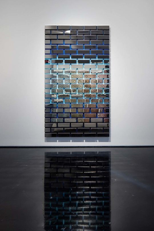 DAN MOYNIHAN    Bricks and Mortar 5 (blue)  (2016)