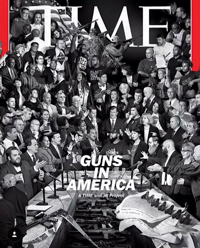 About time! #jr / Time Magazine 2018 @heathermfarrer thanks for the info, epic response to epic problem. . . @jr @timemagazinecovers #artasactivism #standup4humanrights #nomoreguns #oldlaw #moreatstake