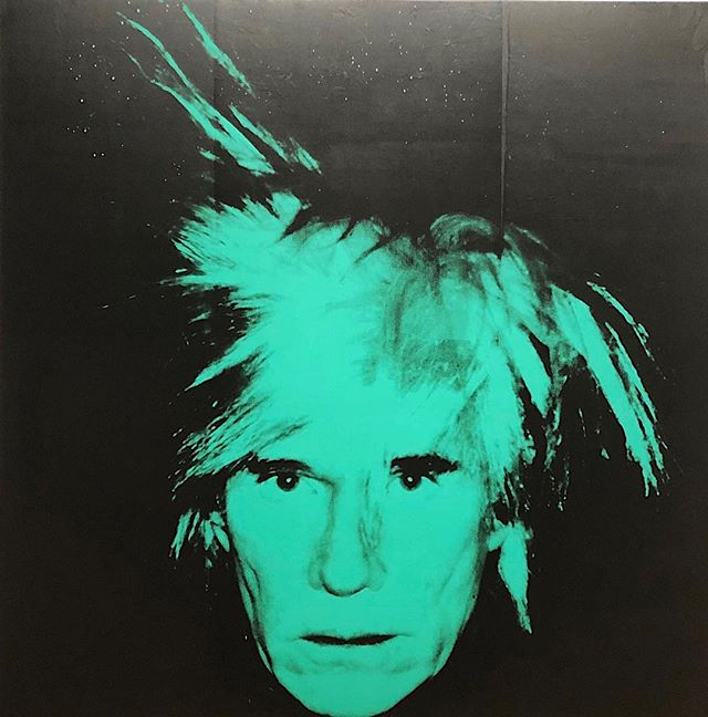 Psychological register personified #AndyWarhol / Self Portrait 1986 in Andy #Warhol from A to B and Back, brilliant exhibition.#openingtomorrow . . #iconofcontemporaryart  #publicmeetsprivate #camoflage #recycling  #distortion #selfportrait #thewhitneymuseum #artadvisor #artadvisory