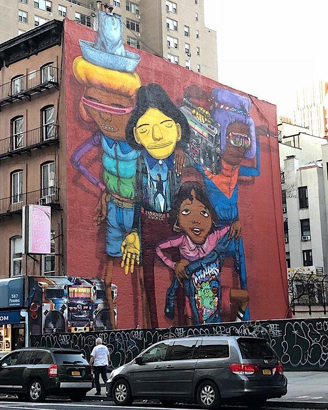Good by NY, its been a blast #Osgemeos / Steemit 2017. . . #identicaltwins  #OtavioPandolfo  #GustavoPandolfo.  #brazilianstyle #hiphop #streetart #streetsmart #timetogohome  #goodtimeshadbyall #summerinsydney beckons #artadvisor #artadvisory
