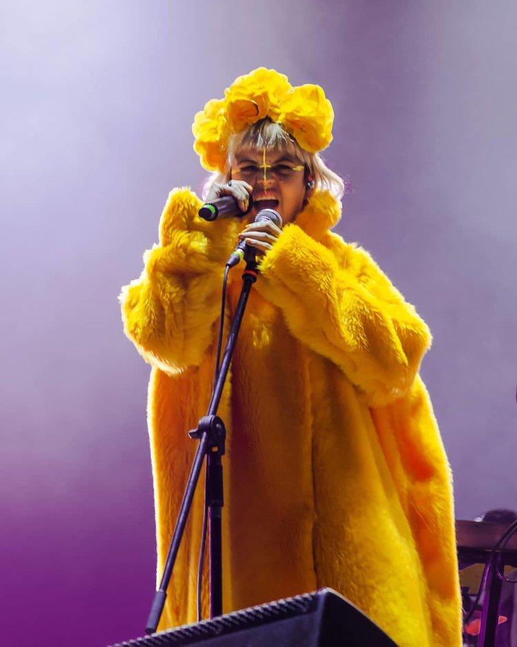 Li Saumet cantante de Bomba Estéreo (Fotografia: Leonardo Villavicencio)