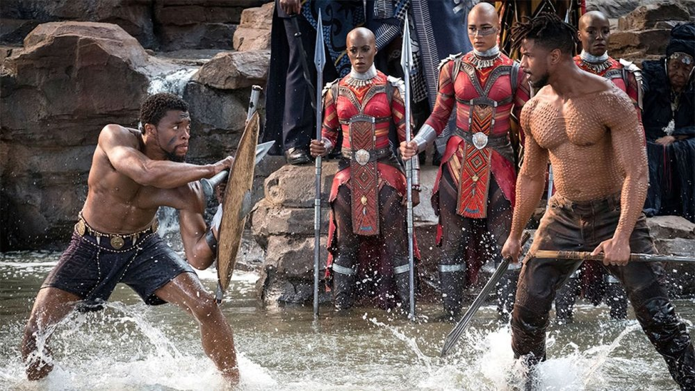 T'Challa (Izquierda) & Killmonger (Derecha)
