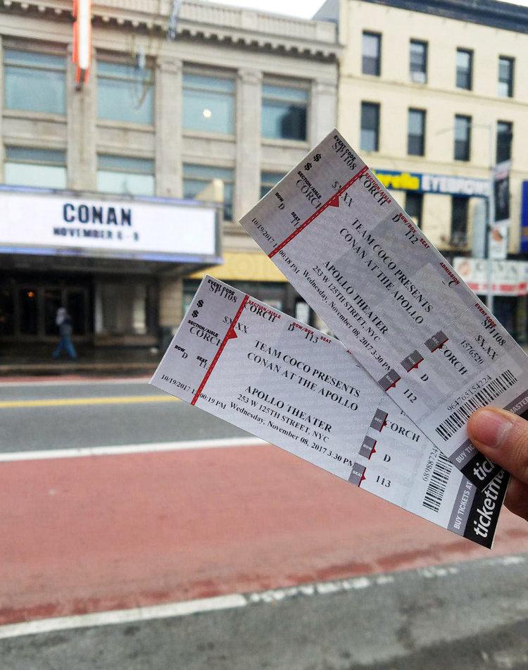 Mis entradas para ver a Conan, ¡y desde la tercera fila!