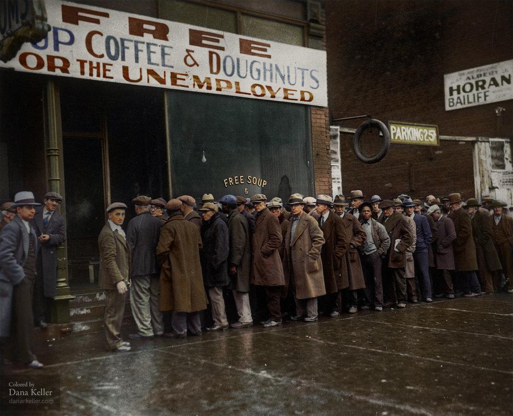 Millones de personas quedaron en la calle durante la Gran Depresión de los años 30 en Estados Unidos