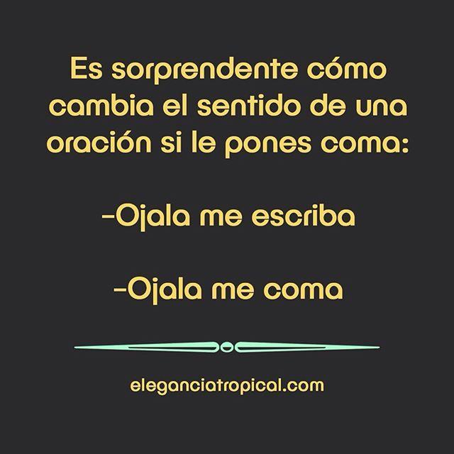 La diferencia de un coma en una oración.. #TropicalmenteElegantes