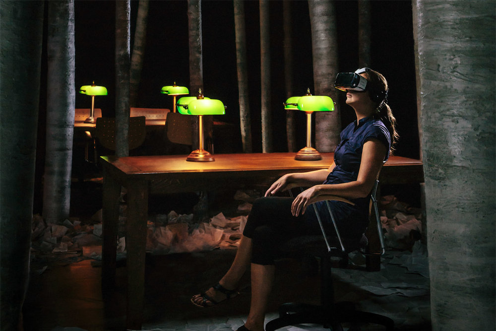 VIRTUAL REALITY    The Library at Night  Ex Machina/Robert Lepage BanQ  Music and sound design