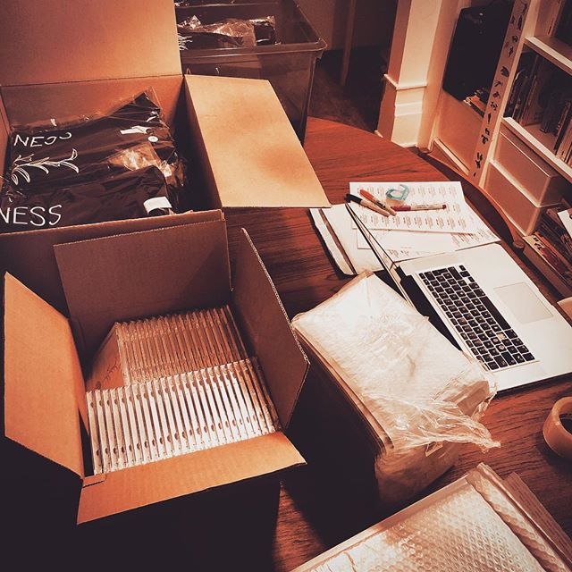 Record and t-shirt shipping operation in progress! #cd #tshirt #wilderness #wildernessalbumjsc #soundtrack #moviemusic #album #instrumental