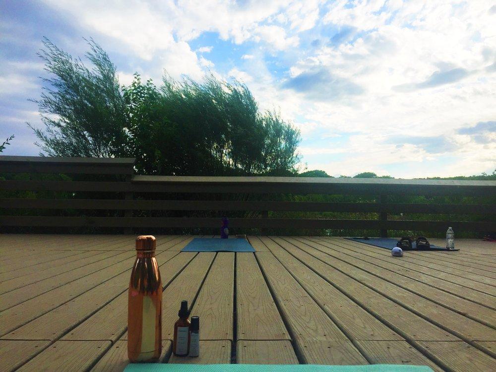 Yogi necessities: water & essential oils