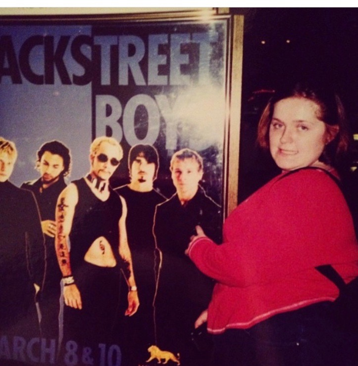 Me in Las Vegas for the BSB Black and Blue Tour. 2001(?). I'm caressing Brian. It's what I did back then.