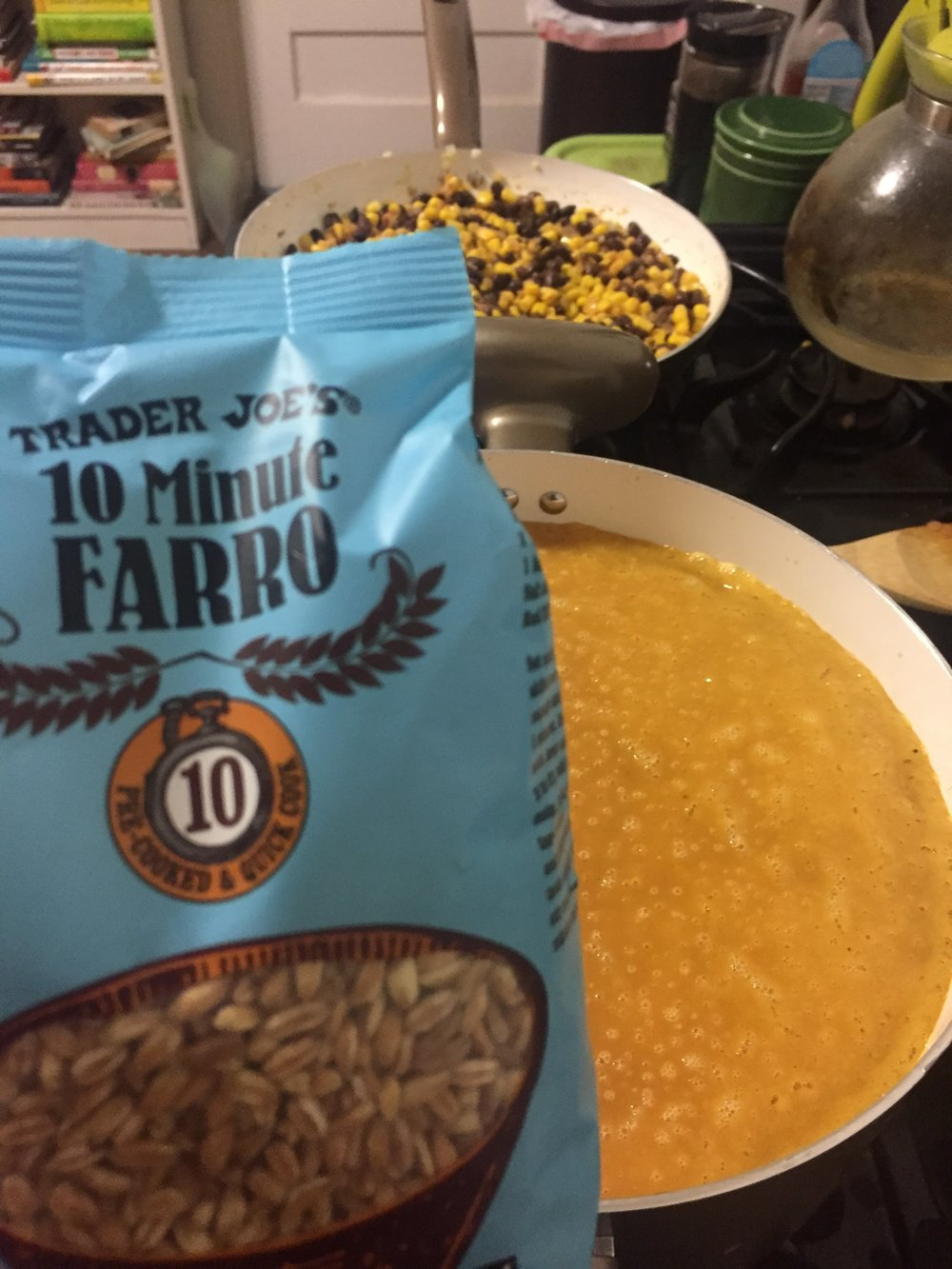 Fact: - Farro helps to regulate blood glucose levels and is a good source of protein.