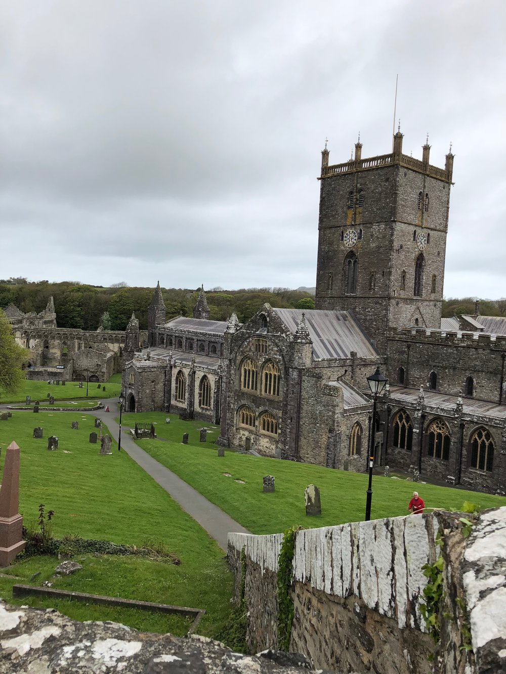 St. David's Cathedral. Walking up took my breath away. And, not just because it was uphill.