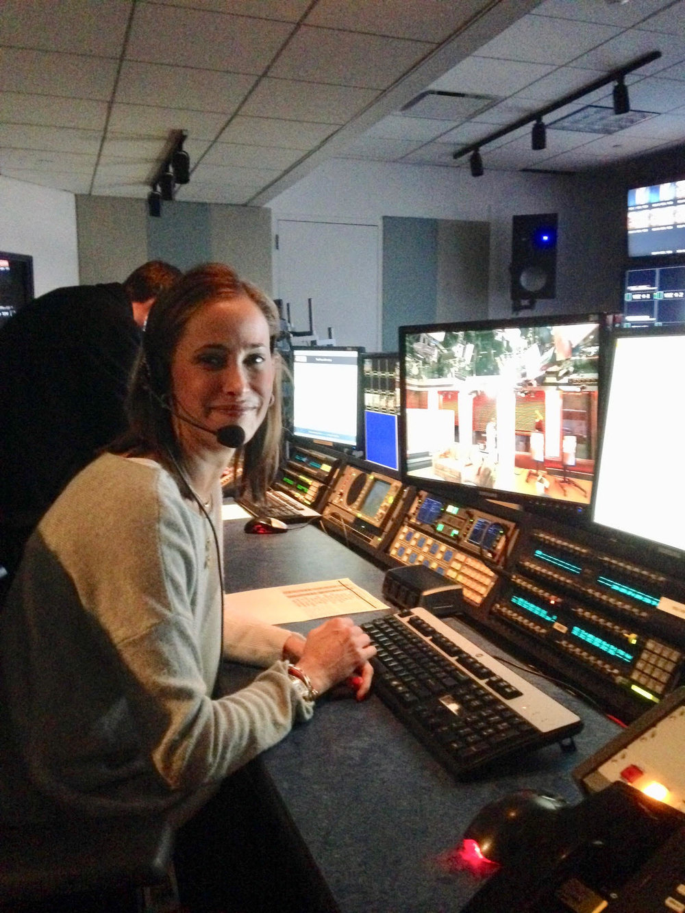 A day in my former life... - Me, in a control room as the Senior Producer of a national news show