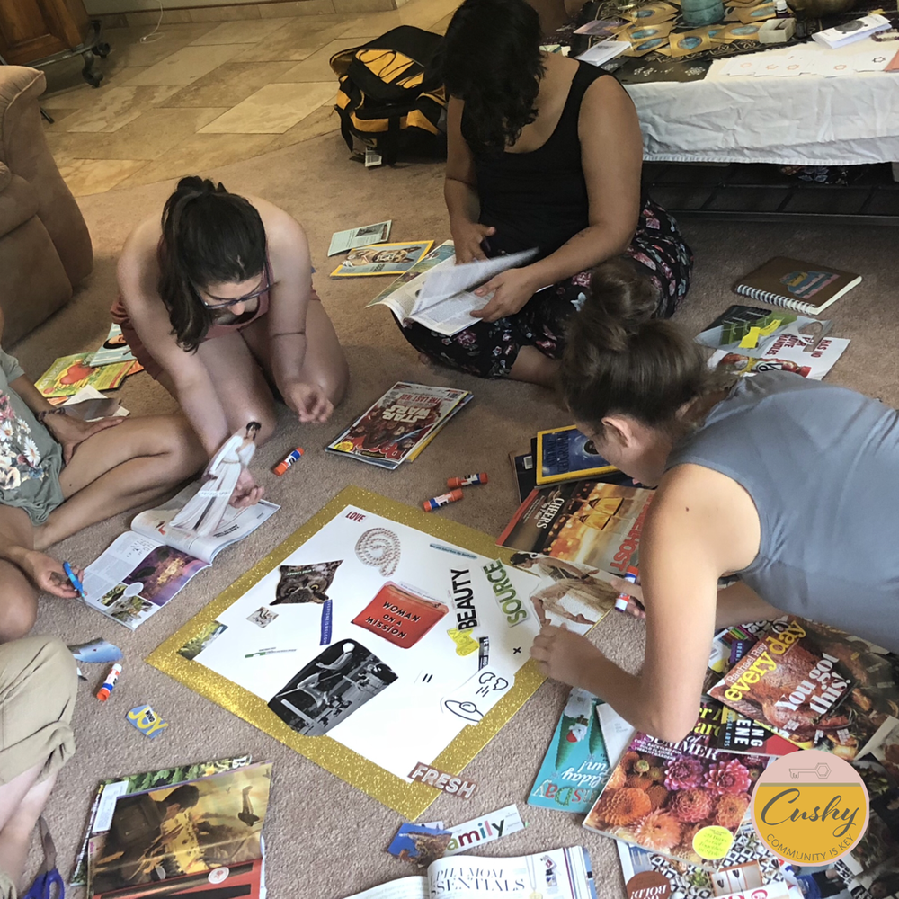 First Annual  Cushy Retreat , June 2018: Vision Boarding