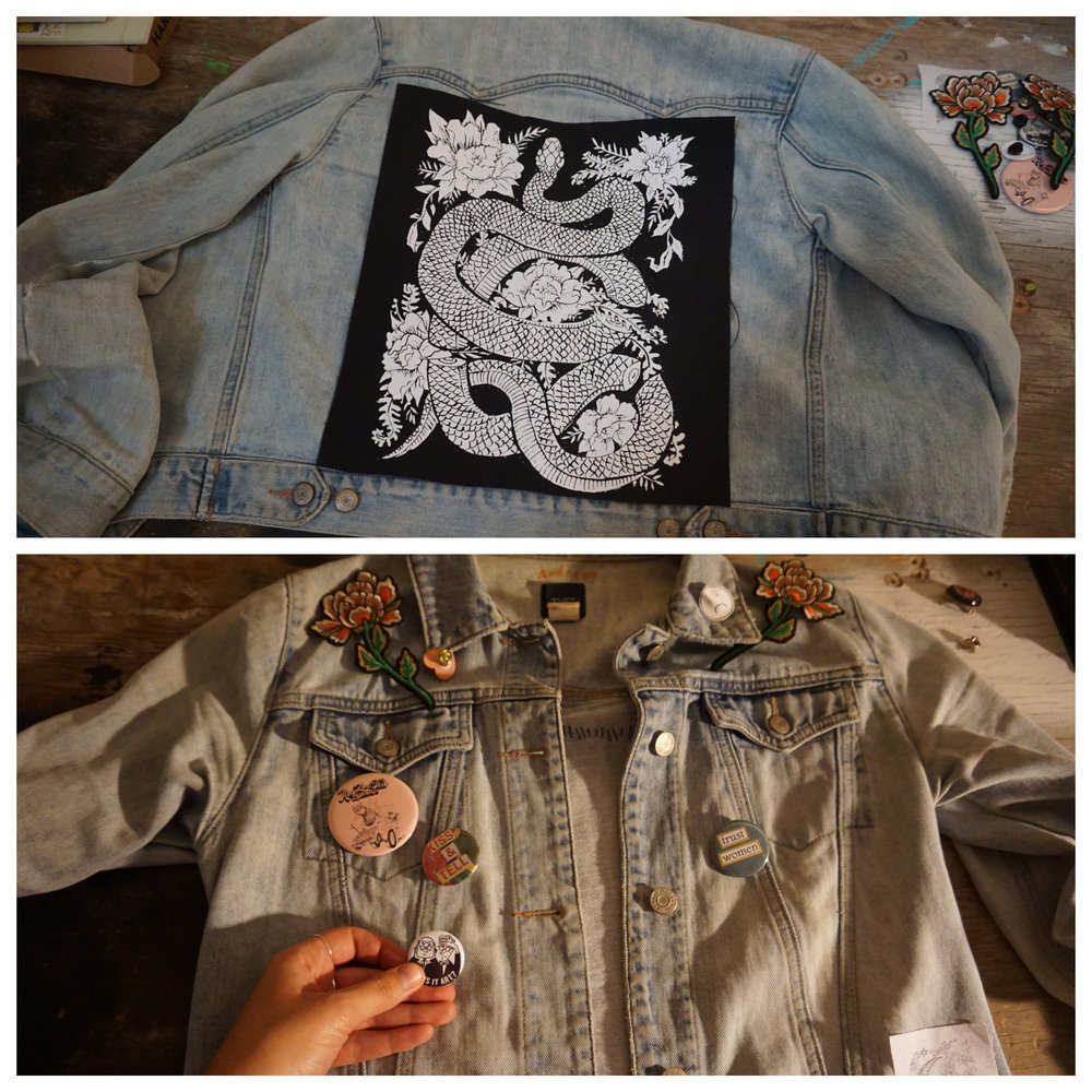 DIY Decorated Jacket