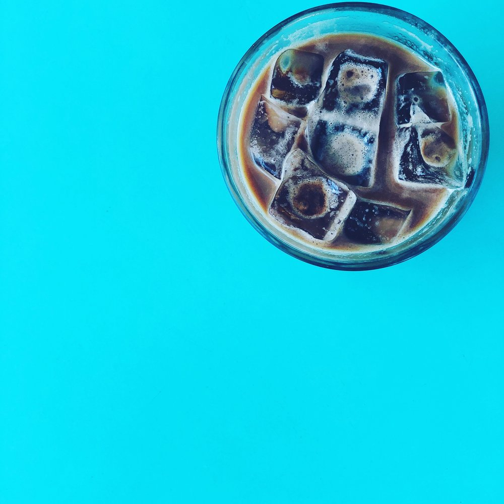 Iced Lavender latte from  Humble Coffee Downtown.