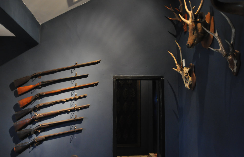 The Pahang Sultanate Gallery: A mounted deer head or set of antlers used to occupy a place of pride in the living room of traditional Malay houses.