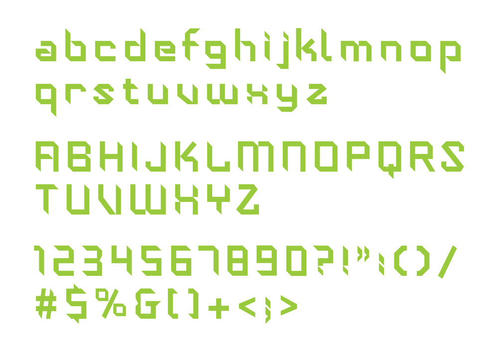 Typographer / designer Yee Weng Chiang was commissioned to design the typeface and the full set of characters.