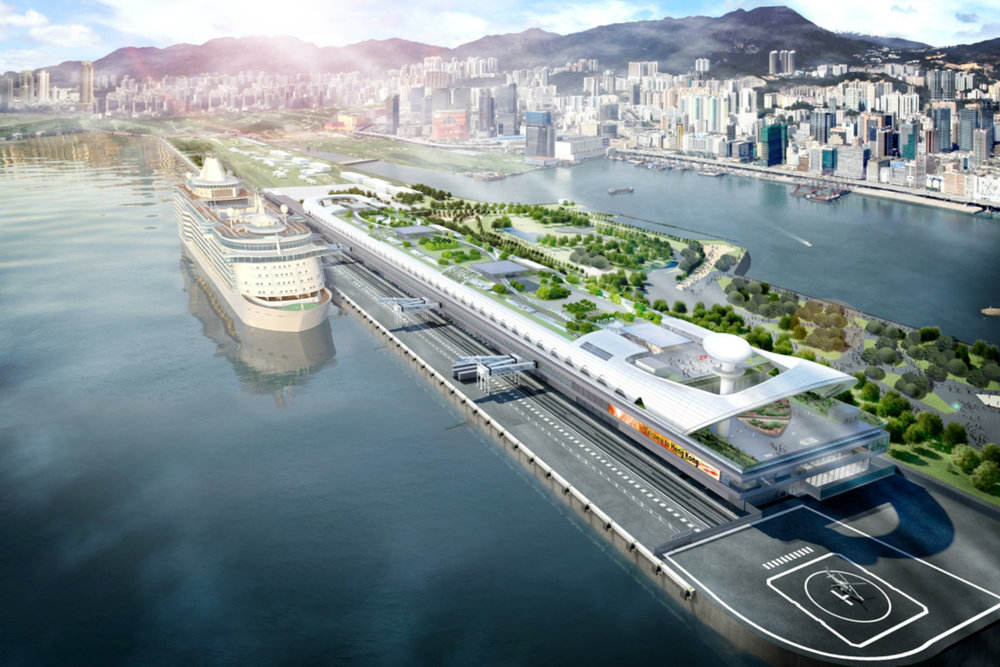 At the heart of the Kai Tak development is the Cruise Terminal
