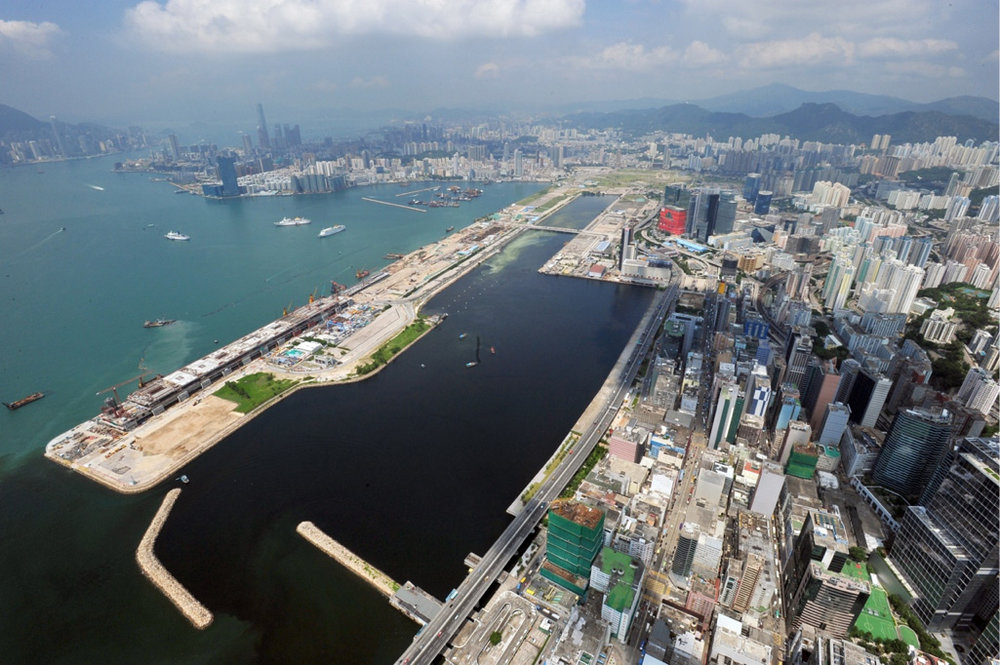 Kai Tak is the former airport district, part of the East Kowloon development area