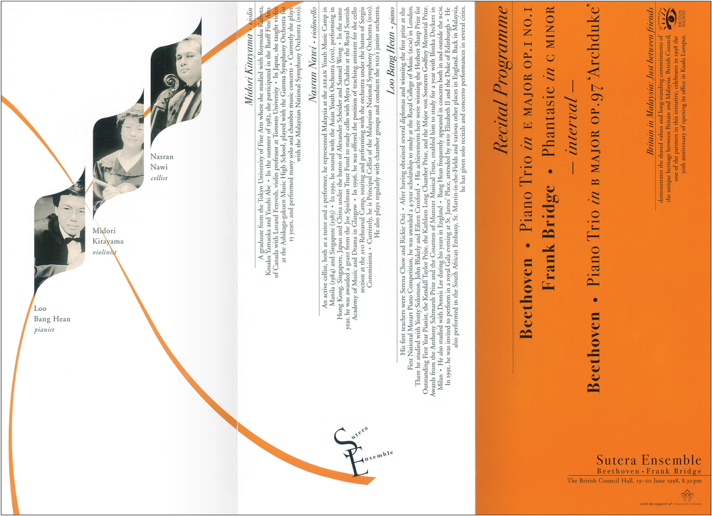 Sutera Ensemble  leaflet, front (unfolded)