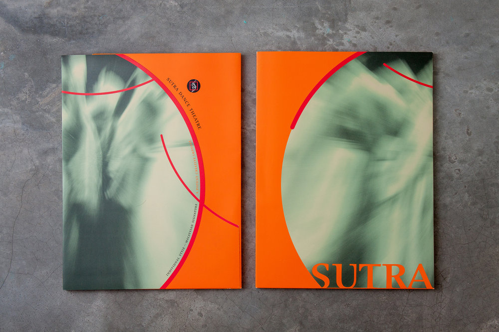 Sutra Dance Theatre media folder, front (left) and back (right)
