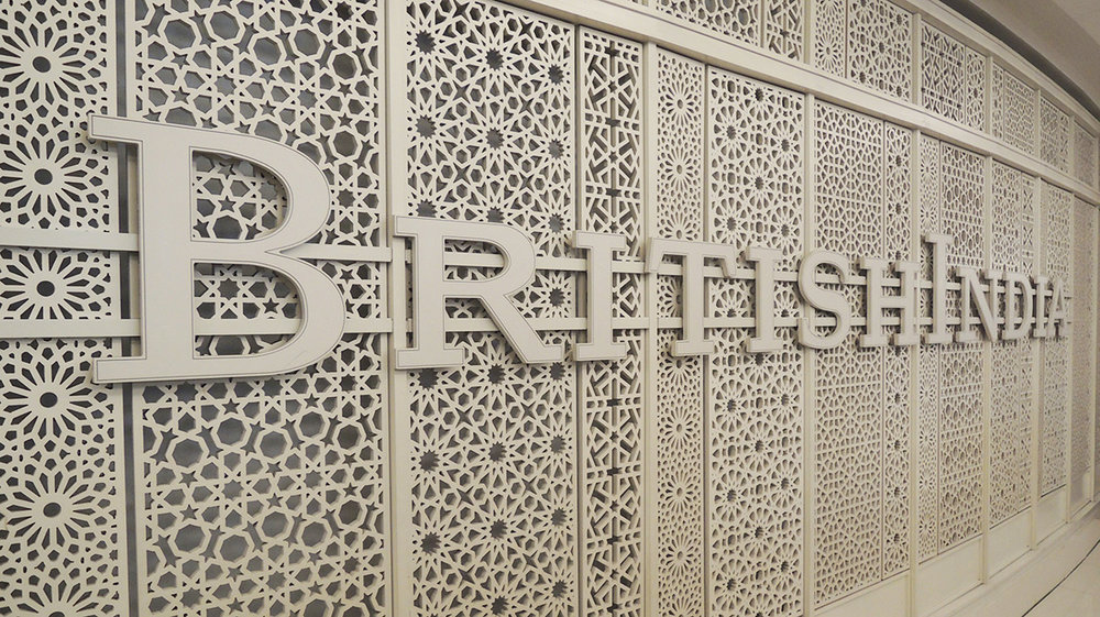 Facade signage by British India team