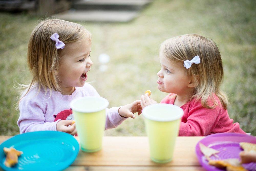 children having snack