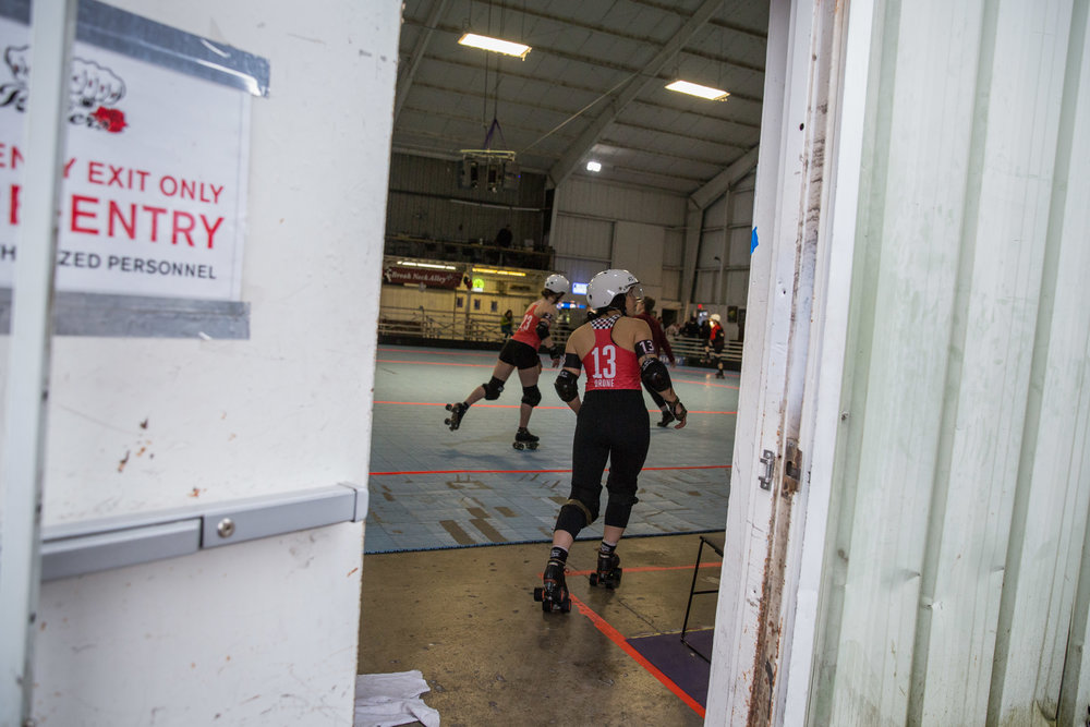 The Rose City Rollers (RCR) derby league in Portland, Ore., has competitive and recreational teams with over 400 female skaters ranging from   age 7 to 60.