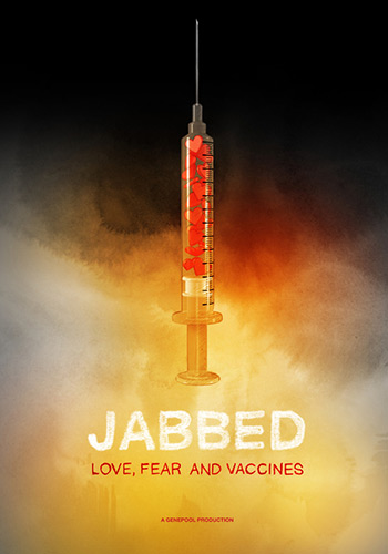 Jabbed - 201390 minScience DocumentaryGenepool ProductionsDiseases that were largely eradicated forty years ago are returning. Across the world children are getting sick and dying from preventable conditions because nervous parents are skipping their children's shots. And it's not just kids: adults, too, are being hard hit. Yet the stories of vaccine reactions are frightening, with rare cases of people being damaged, even killed, by vaccines. How do we decide whether to vaccinate or not, and what are the real risks? Jabbed, made by 2012 Emmy® award‐winning Australian documentary filmmaker Sonya Pemberton, travels the globe to look at the real science behind vaccinations, tracks real epidemics, and investigates the real cost of opting out. What would you do to protect the ones you love?