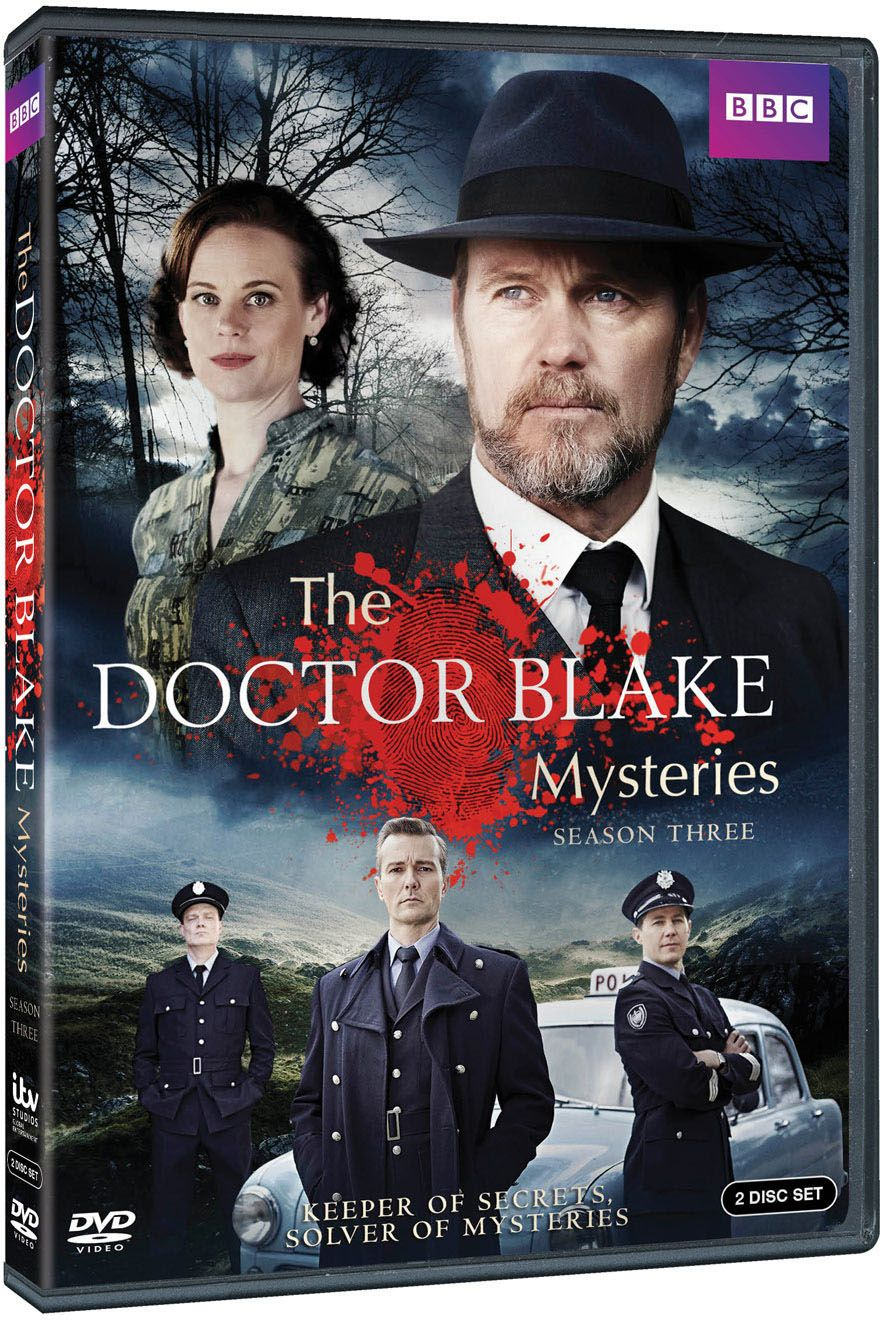 The Doctor Blake Mysteries Season Three - 201410 x 60 minDrama seriesDecember Media/ABC TV AustraliaDoctor Lucien Blake is back, but Ballarat is no longer the safe haven he has come to call home. A new Chief Superintendent is on the way, a man who will not be won over by the Doctor's strange but effective methods as Police Surgeon. There is a lingering awkwardness with Jean, his assistant and housekeeper, and a new mystery that goes back almost 40 years, a cold case that will cut to the very heart of Blake. There will be murder and intrigue, police politics and espionage. Mysteries that, as always, only Doctor Blake can solve.