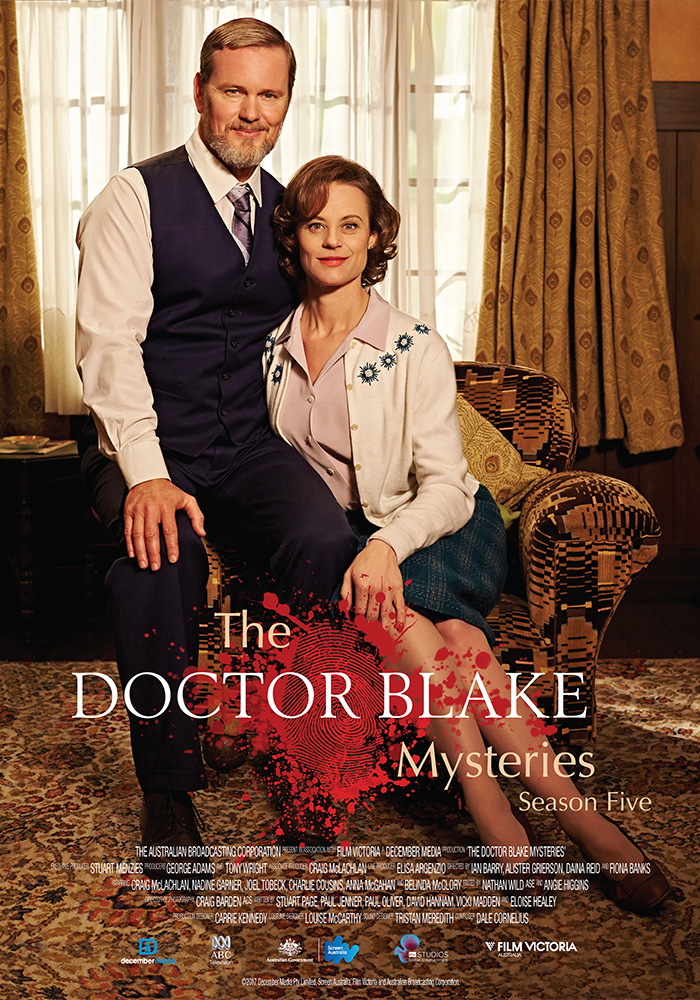 The Doctor Blake Mysteries - 2012 - ongoing8 x 60 minDrama seriesDecember Media/ABC TV AustraliaDoctor Lucien Blake is back ready to be confronted by murder and mystery at every turn. From the boxing ring to a new French bistro, from an exotic camp of travelling Romani gypsies to the local Debutante Ball…But he's about to discover that each and every one of his actions has consequences. And no good deed ever goes unpunished…