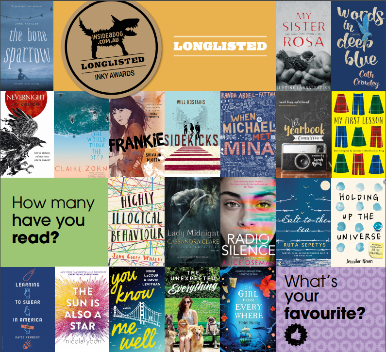 2017 Inky Awards longlist (Centre for Youth Literature, State Library Victoria)