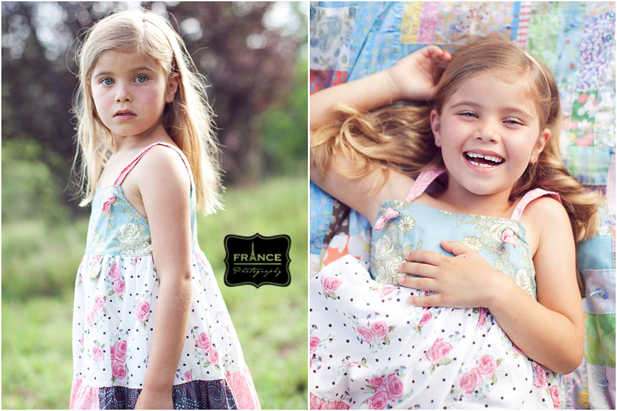 little girl in a Matilda Jane dress