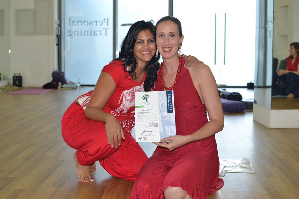 - Your Trainers:Sasha Quince & Joanne Arganaraz have over two decades of experience in instructing both Yoga & Prenatal Yoga in the UAE. Combined they have used yoga practices in four pregnancies with very different births. They are excited to combine their skill sets for Abu Dhabi's 3rd Pregnancy Yoga Teacher Training.