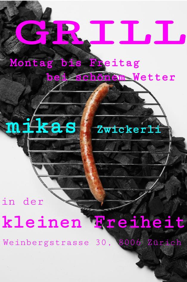 Stadt- und Lammzwickerli von www.mikas.chstadt.fleisch.wurstDie feinsten Würstli aus schweizer Fleisch, produziert in Zürich.GrillGrillGrillGrillGrillGrillGrill....zum Zmittag und am Abend ab 18.00 Uhr -