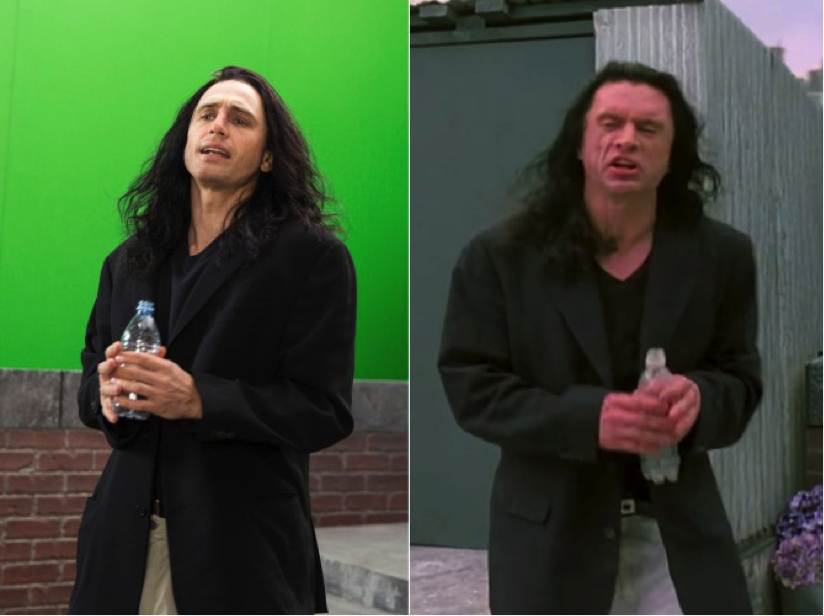 Left James Franco and right Tommy Wiseau.