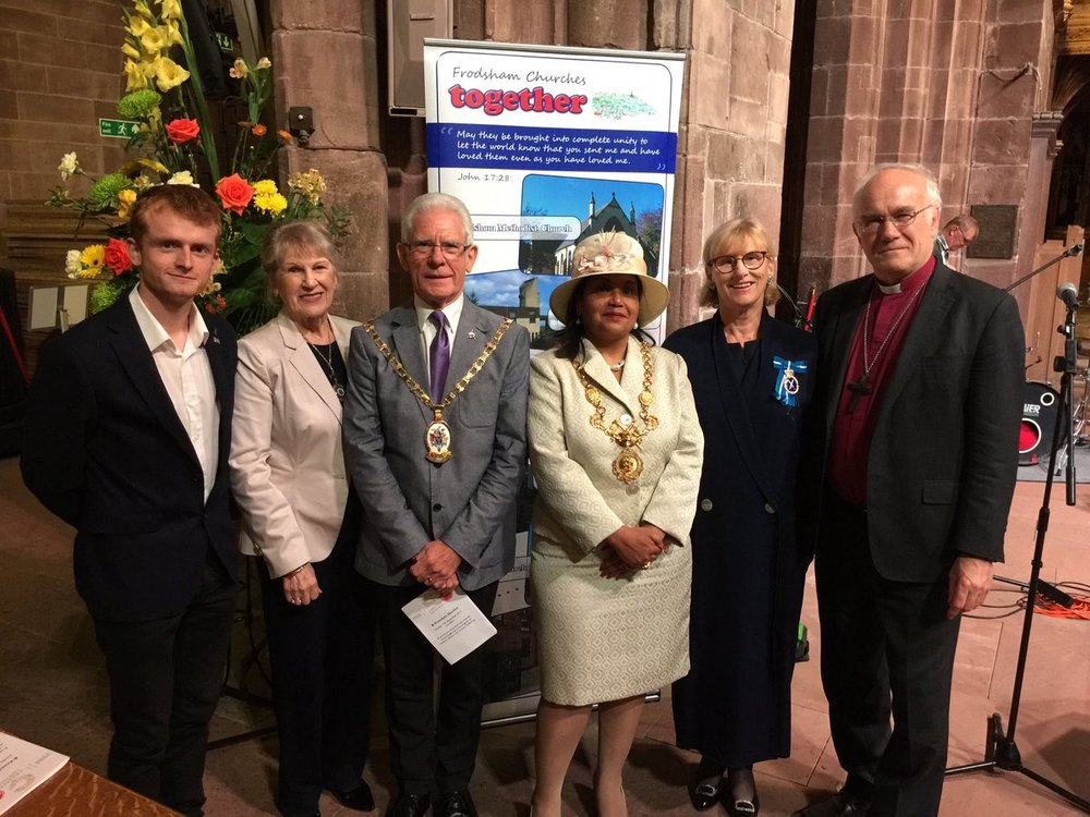 Local dignitaries and churches came together to raise awareness of modern slavery