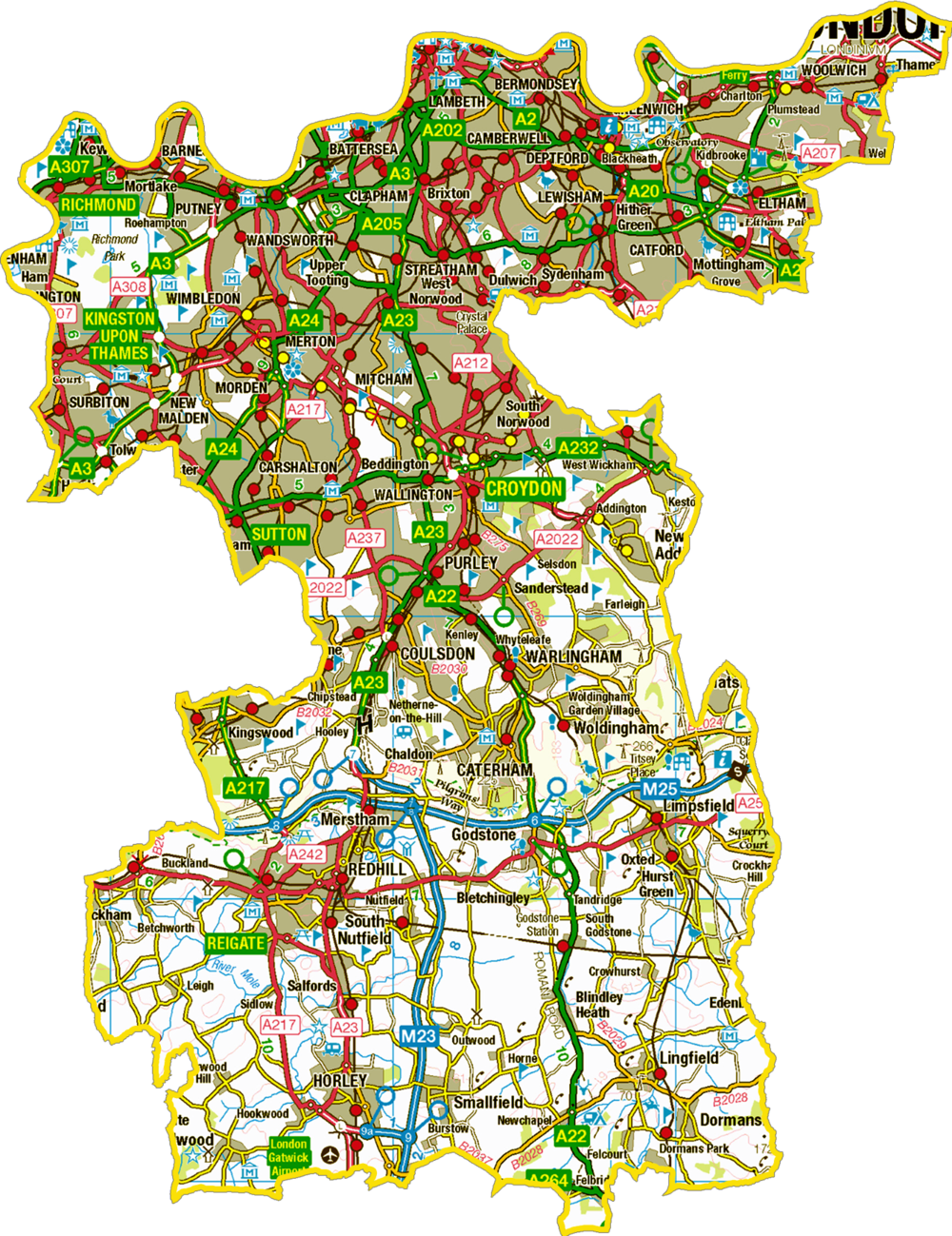 Geographical Map of the Diocese of Southwell and Nottingham