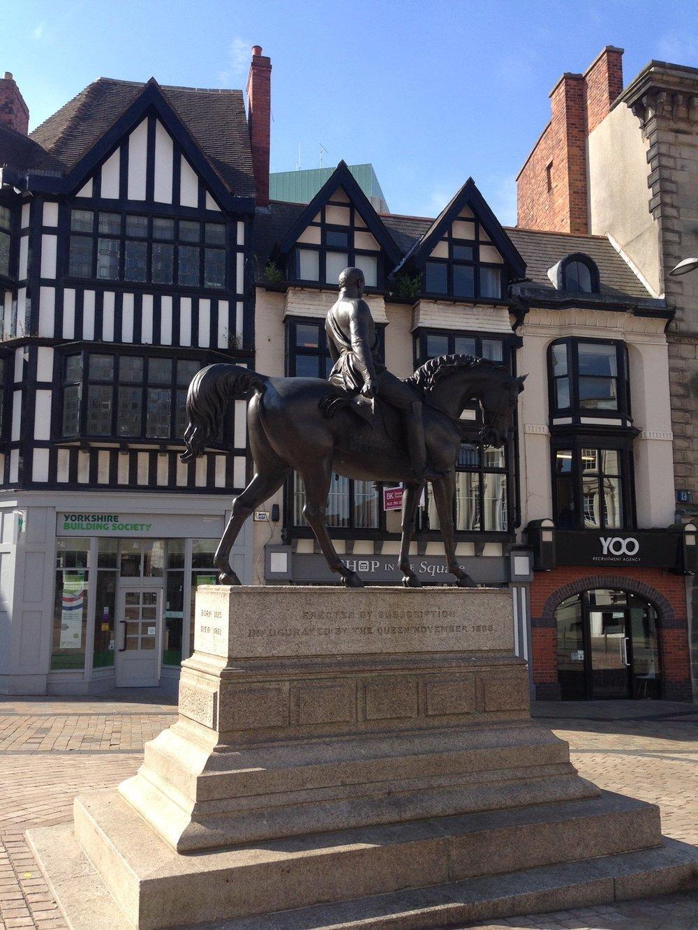 Wolverhampton's 'Man on the Oss' statue