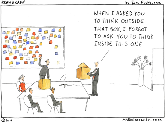 Innovation, or thinking outside the box - Marketoonist
