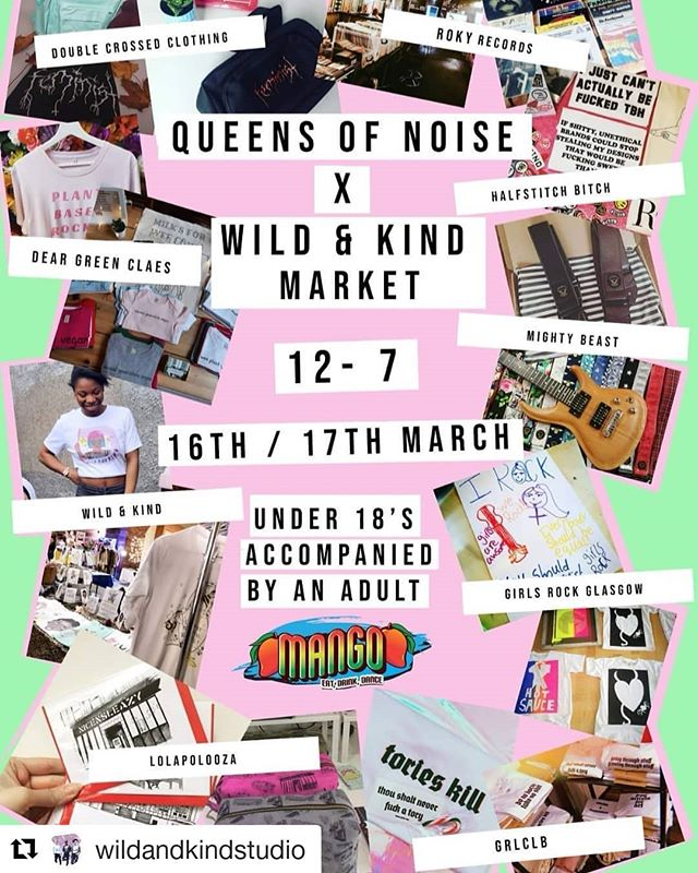 So excited to be at this event on the 16th of March! Hope to see you all there!  #Repost @wildandkindstudio (@get_repost) ・・・ We are holding a market at the up and coming @queensofnoisemusic weekend event!!! There will be loads of amazing stuff for sale and more we will be announcing through the week! The event has been put together by two young women working in the music business, celebrating the female contribution to our local music scene with the aim to inspire, and educate with panels and later on live music showcases. The market is free entry however tickets are available for the accompaning event via @queensofnoisemusic!!! 😍